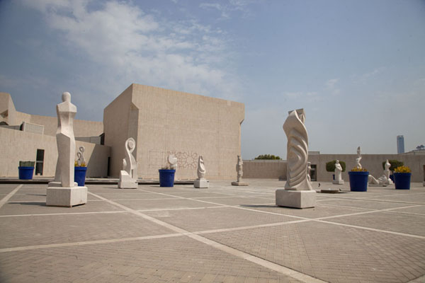 Plaza with sculptures outside the National Museum | Bahrain National Museum | Bahrain
