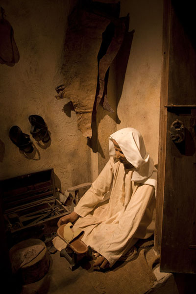 This shoemaker is one of the professions of a realistic alley in the museum | Bahrain National Museum | Bahrain