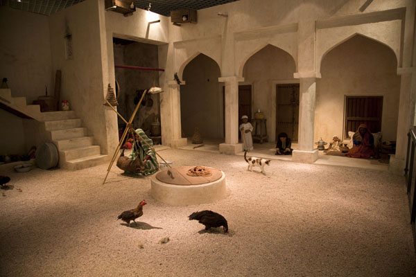 Courtyard of a traditional Bahraini house in one of the halls of the National Museum | Bahrain National Museum | Bahrain