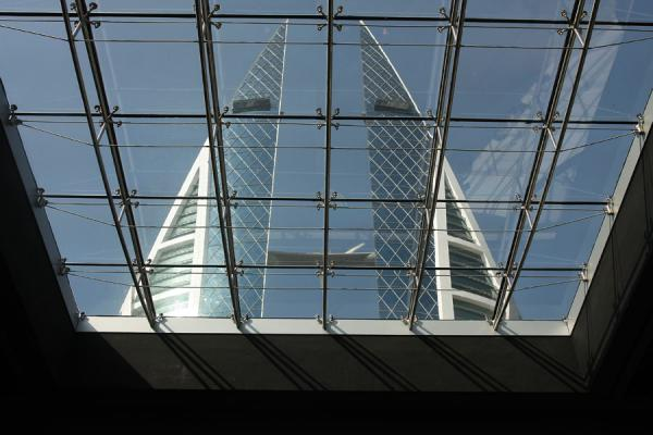 Picture of Bahrain World Trade Center (Bahrain): Seeing the World Trade Center through the glass ceiling of a shopping mall