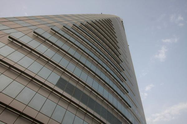 Picture of Bahrain World Trade Center (Bahrain): World Trade Center tower pointing towards the sky