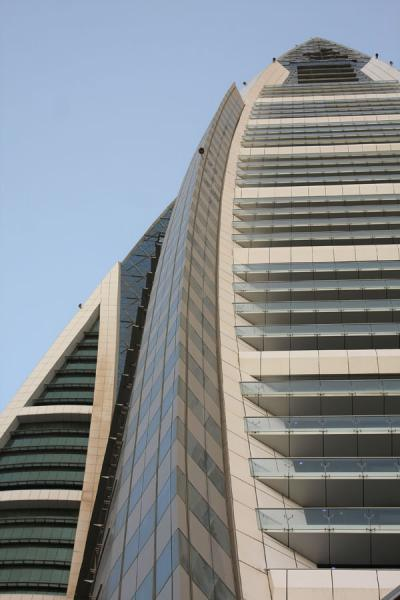 Picture of Bahrain World Trade Center (Bahrain): View from below of one of the World Trade Center towers