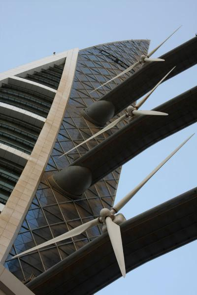 Picture of Bahrain World Trade Center (Bahrain): World Trade Center seen from below