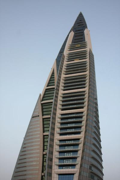 Picture of Bahrain World Trade Center (Bahrain): View of the side of the World Trade Center