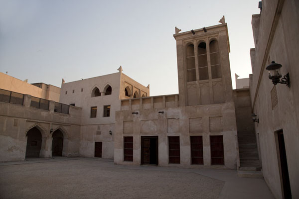 The courtyard of the family quarters with wind tower | Bait Sheikh Isa bin Ali | Bahrain