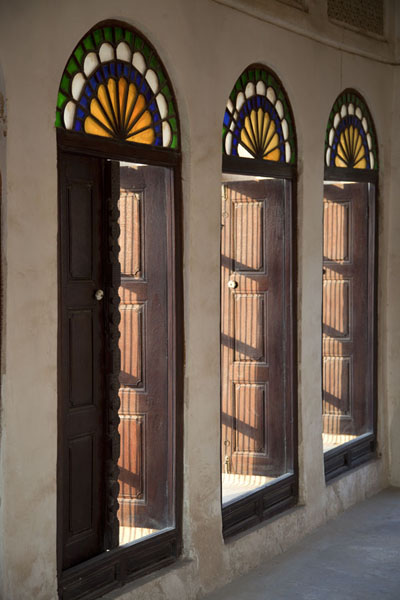Stained glass windows and wooden shutters | Bait Sheikh Isa bin Ali | Bahrain