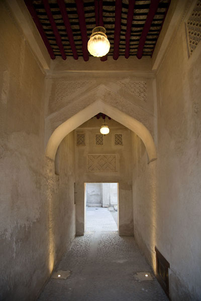 One of the corridors in the house between the family quarter and the Sheikh quarter | Bait Sheikh Isa bin Ali | Bahrain