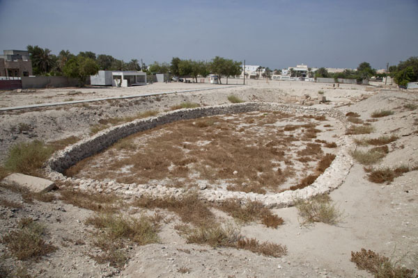 Overview of the oval sacrificial grounds at the temple complex of Barbar | Barbar temple | Bahrain