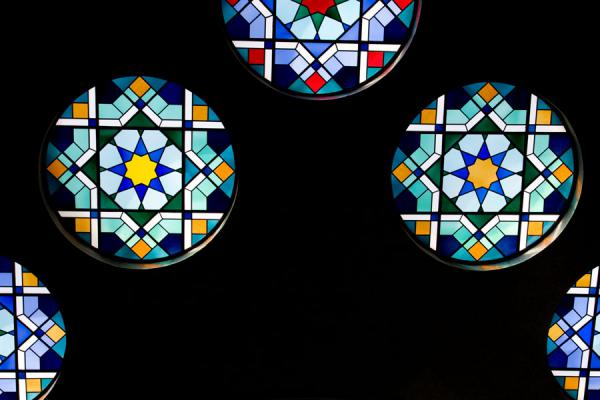Detail of the stained glass ceiling of the main hall of Beit al Quran | Beit al Quran | Bahrain