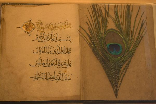 Callligraphy and peacock feather in Beit al Quran | Beit al Quran | Bahrain