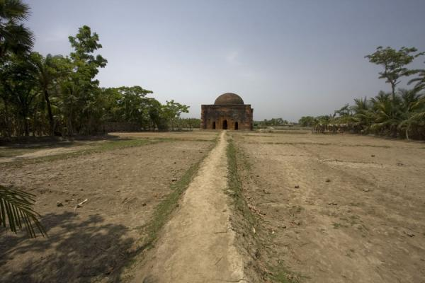 Chunakhola mosque seen from a distance | Bagerhat mosques | Bangladesh