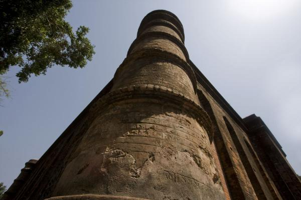 Nine-domed mosque seen from below | Bagerhat mosques | Bangladesh