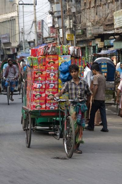 Picture of Bangla Pedal Power (Bangladesh): Heavily loaded bike pushed to its destination