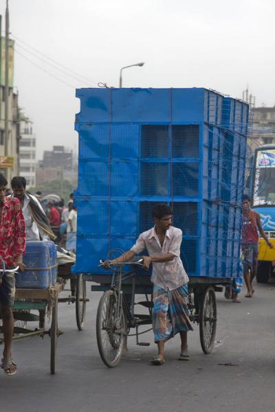 Picture of Bangla Pedal Power (Bangladesh): Cupboards on the back of a bike