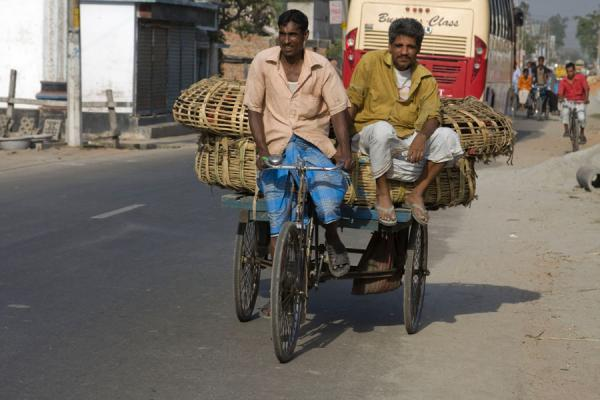 Picture of Bangla Pedal Power (Bangladesh): Basket with chicken on the back of a bike