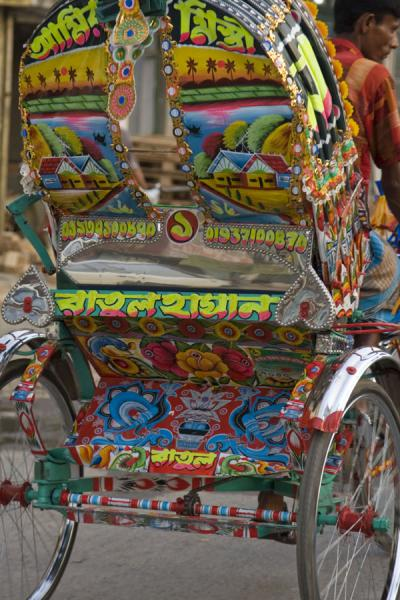 Brightly coloured backside of a rickshaw | Bangladeshi rickshaws | Bangladesh