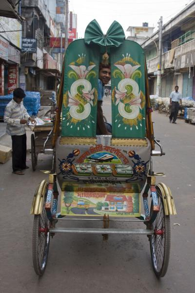 Rickshaw with plane depicted on its rear | Bangladeshi rickshaws | 孟加拉共和国