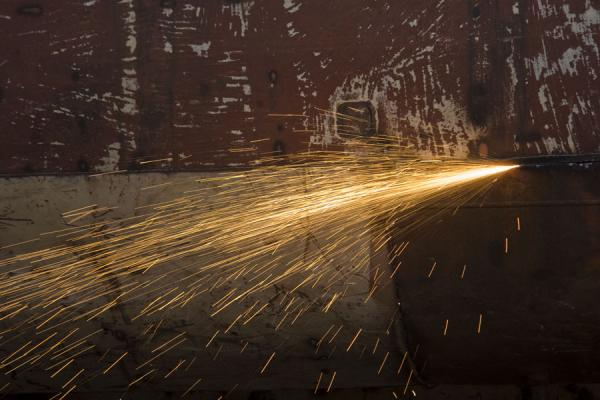 Picture of Welding is one of the main activities at the shipyard of Dhaka