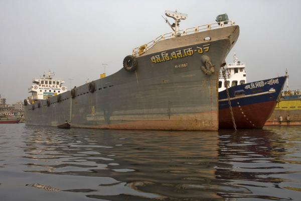 Picture of Dhaka Shipyard (Bangladesh): Ships waiting to be admitted to the shipyard of Dhaka
