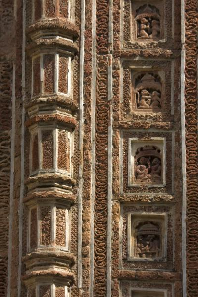 Detailed view of a corner of Kantanagar temple | Kantanagar temple | Bangladesh