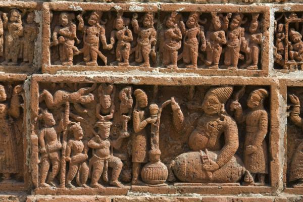 Picture of Kantanagar temple (Bangladesh): One of the thousands of scenes in Kantanagar temple