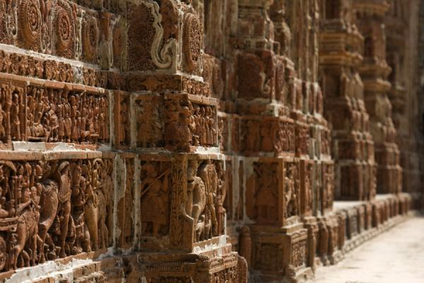 Picture of Kantanagar temple (Bangladesh): Some of the carvings at the lower part of the temple