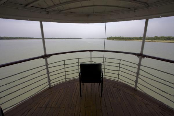Picture of Rocket boat ride (Bangladesh): View from the first class deck of the Rocket