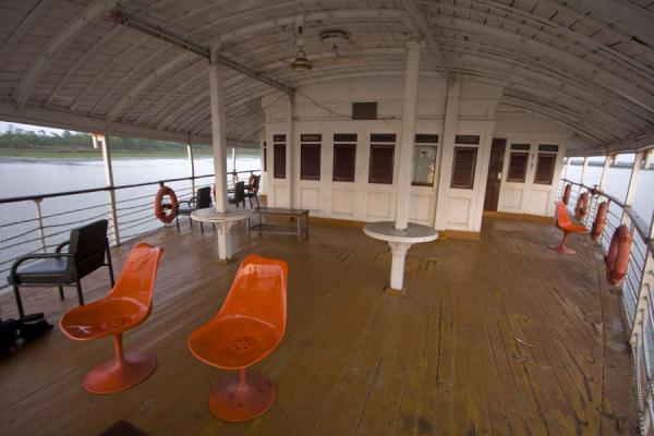 Picture of Rocket boat ride (Bangladesh): Plenty of space on the first class deck of the Rocket