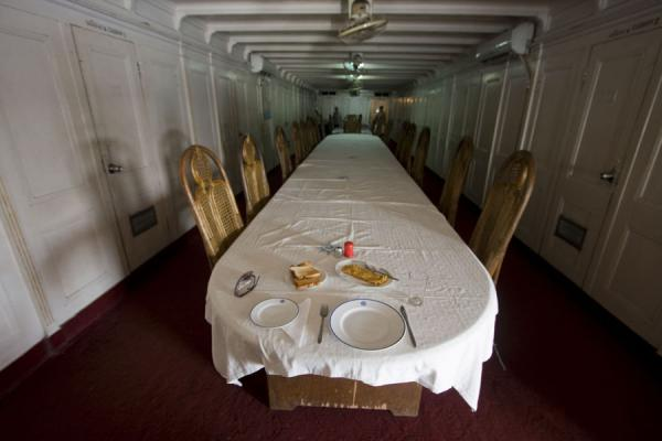 Picture of Rocket boat ride (Bangladesh): First class dinner table in the Rocket