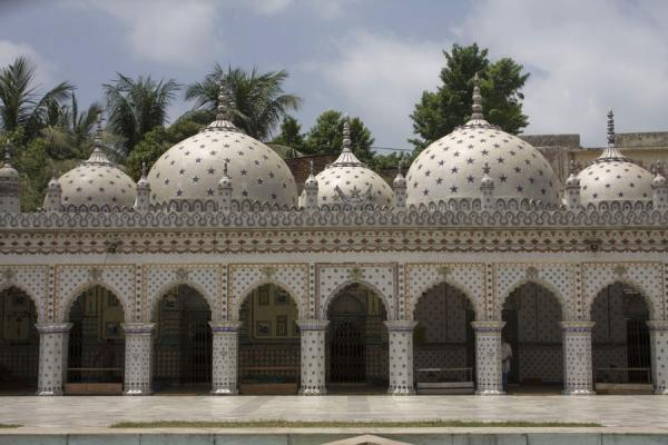 Frontal view of Sitara mosque | Sitara mosque | Bangladesh