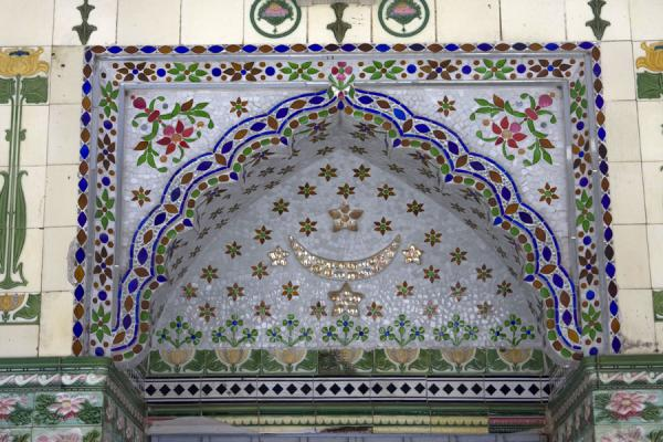 Detail of the outside wall of Sitara mosque | Sitara mosque | Bangladesh