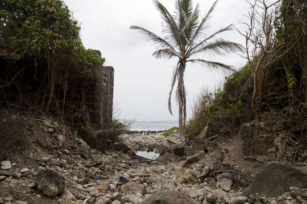 At some places, you can still see collapsed bridges of the old railroad track | Barbados East Coast | Barbados