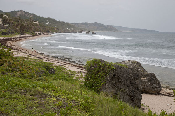 Foto van View of the east coast of BarbadosBarbados oostkust - Barbados