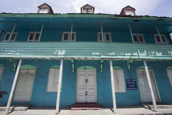 Foto van One of the most prominent houses on the main street in Speightstown - Barbados - Amerika