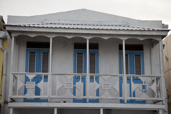 Balcony with blue doors | Speightstown | Barbados