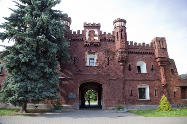 Picture of The Kholmsky Gate at the southern side of the fortressBrest - Belarus
