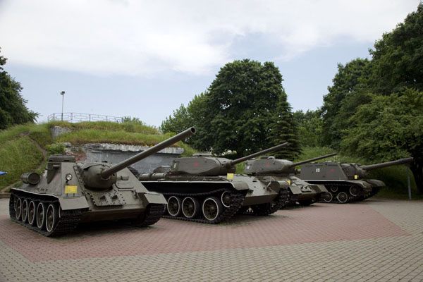 Picture of Soviet tanks parked inside the fortress of BrestBrest - Belarus
