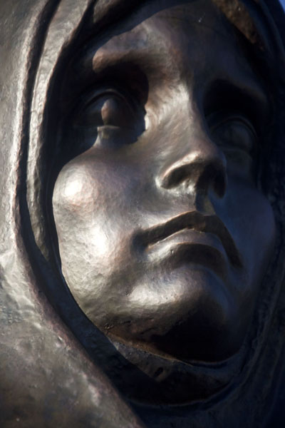 Close-up of a face of one of the weeping women | Island of Tears | Belarus