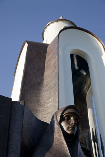 Picture of Looking up the chapel with one of the wailing womenMinsk - Belarus