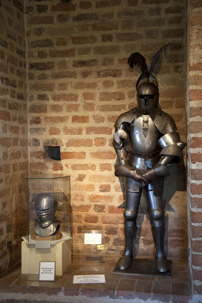 Knight armament on display in Mir castle | Mir Castle Complex | Belarus