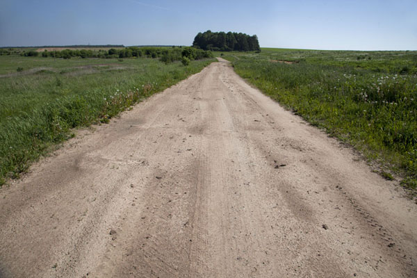 The track from Mir to the cemetery | Tatar cemetery | Belarus