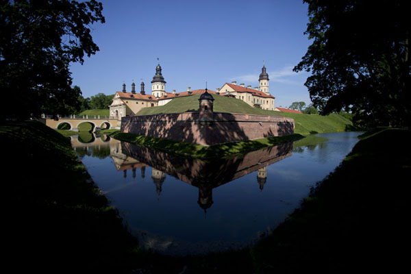 Moat around the palace of Njasvizh | Njasvizh | Belarus