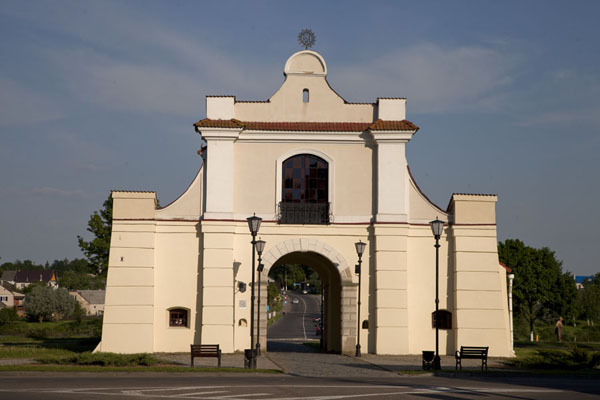 Picture of One of the four city gates, the Slutsk gate is the only one still standing in Njasvizh