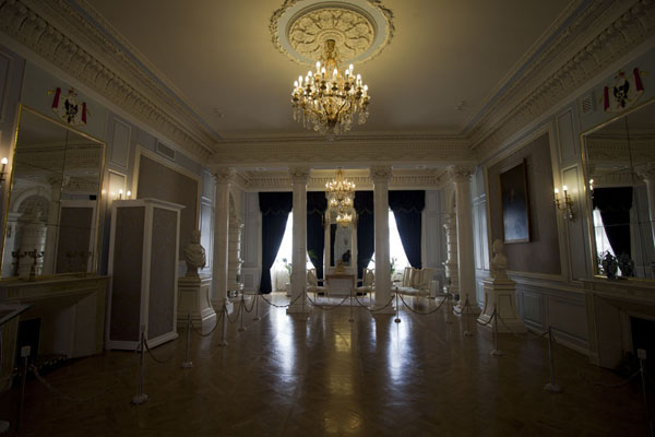 One of the posh rooms inside the palace of Njasvizh | Njasvizh | Belarus