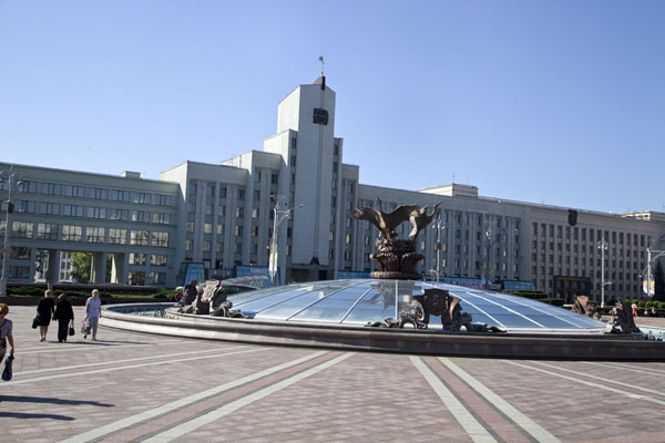View towards the eastern side of Independence Square | Nyezhavisimosty Avenue | Belarus