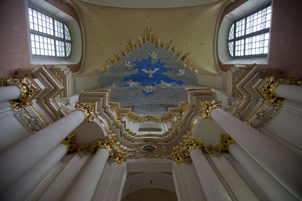 Looking up the renovated Cathedral of St Sophia | Polatsk | Belarus