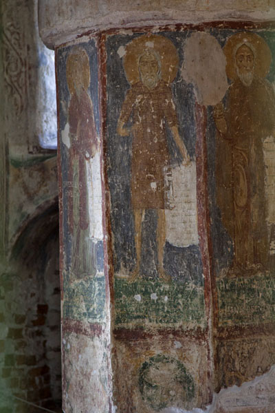 Close-up of frescoes in the Church of the Saviour where St. Euphrosyne is entombed | Polatsk | Belarus
