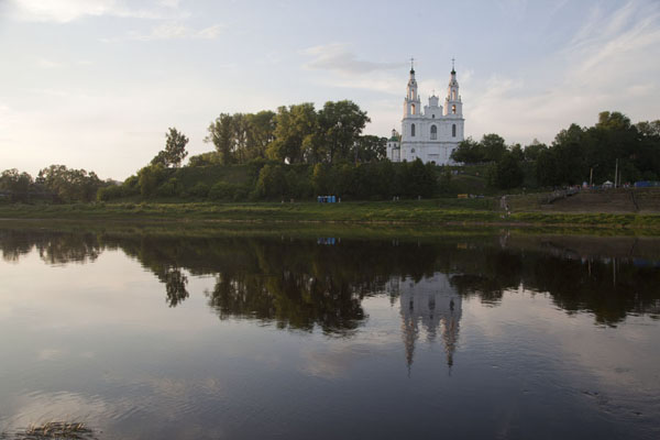 Picture of Polatsk (Belarus): Reflection of the Cathedral of St. Sophia in the Dvina river
