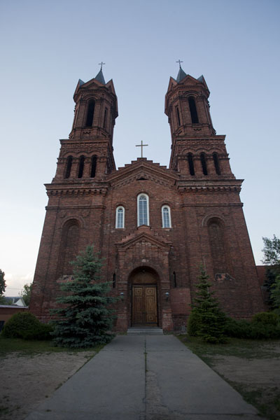 Picture of The Roman Catholic church of St Barbara at sunsetVitebsk - Belarus