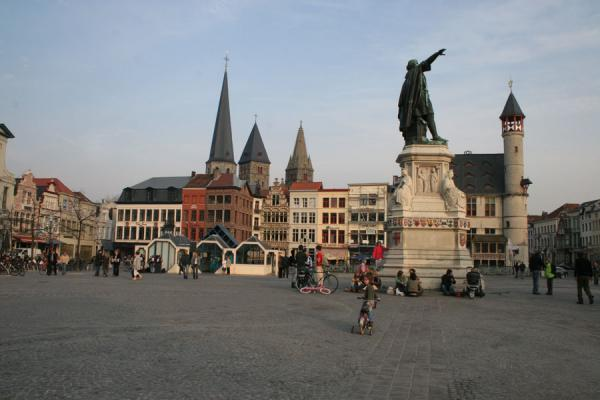 Picture of Vrijdagmarkt (Friday market) square in GhentGhent - Belgium